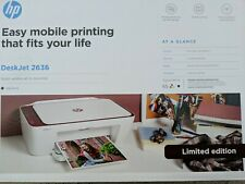 Hp Desktop Printer Desk Jet 2636 All In One Printer.  Color prntr  dark Sienna