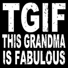 "WOODEN BOX SIGN ""TGIF THIS GRANDMA IS FABULOUS"""