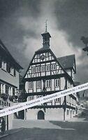 Sindelfingen - Altes Rathaus und Martinskirche - um 1955         H 8-19