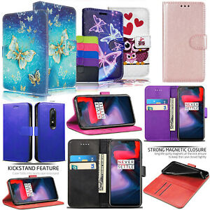 For OnePlus 6 / OnePlus 6T - PU Leather Wallet Flip Stand Magnetic Case Cover