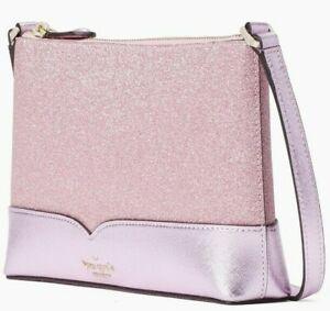 Kate Spade Lola Glitter Crossbody Rose Pink WKR00081 NWT $179 Retail FS