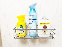 Storage Basket Organizer Suction Cup Mount Kitchen Bathroom Shower Caddy Shelf