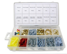600 Pc Picture Hanging Kit Assortment Fastener Wall Hooks Nail Photo Hangers New