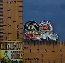 BMC & Leyland Mini Cooper S Red & White  Quality Metal Lapel Pin / Badge