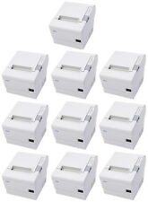 (Lot of 10) Epson TM-T88IV POS Thermal Printer, Cool White, Serial Interface