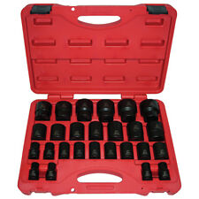 "K Tool 38101 Impact Socket Set, 1/2"" Drive, 26 Piece, 10mm to 36mm, Shallow"