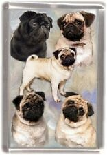 Pug Fridge Magnet No 4 by Starprint