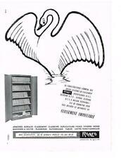 PUBLICITE ADVERTISING  1958  RONEO  armoires bureau