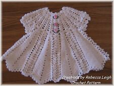 "CROCHET PATTERN for"" APPLE BLOSSOM""  Baby Dress by REBECCA LEIGH --- 6/12 MONTHS"