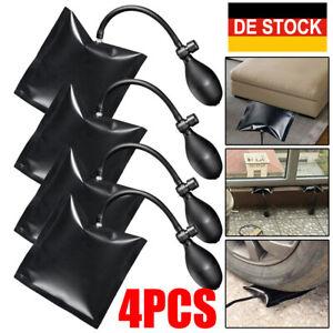 4×PDR Pumpkissen Montageluftkissen Luftsack Fenster Tür Montagehilfe Schwarz Set