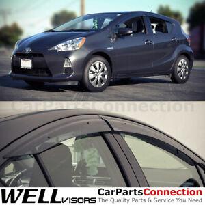 WellVisors Window Visors 12-19 For Toyota Prius C Sun Visors Deflectors Clip-on