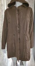 Torrid Green Zipper Snap Hooded Jacket Tie Waist Torrid Size 0