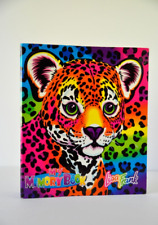 Lisa Frank 3 Three Ring Binder Notebook Leopard My Memory Book Vintage 80's