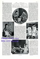 Live of Geishas in Japan 1 page 1928 German report with 4 images +