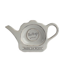 T & G Pride Of Place Tea Bag Coaster Tidy Holder Cool Grey #18096