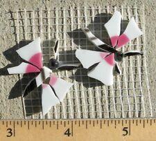 """Two 1"""" Pink Butterflies Mosaic Tile Broken Cut China Plate mosaic"""