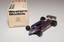 I WESTERN MODELS WM WRK27 1980 LOTUS 81 ESSEX F1 RACING CAR MINT BOXED
