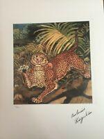 Antonio Ligabue Litografia cm 50x70 con fotoautentica edizione 1995 SPADEM