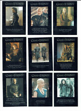 Game of Thrones Season 3 Complete 9 Card Set Quotable GoT Q21-Q29 (1:12 Packs)