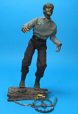 "Sideshow 12"" THE WOLF MAN Signed By OLUF W HARTVIGSON Universal Monsters Dracula"