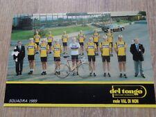 wielerkaart 1989  team del tongo  colnago mario cipollini - fondriest