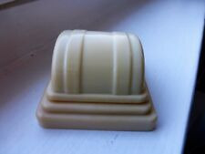 VINTAGE  CREAM SINGLE  DECO  RING BOX  BLUE VELVET INSIDE  EXCELLENT  CONDITION