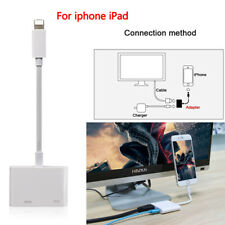 UK Lightning AV Adapter to TV HDMI Cable for iPhone 6S 7/7 Plus 8 iPhone X Ipad