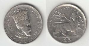 Äthiopien 25 Matonas 1931 Münze, Haile Selassie I  ss-vzgl
