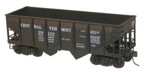 HO Accurail Central Vermont 55-Ton Panel-Side 2-Bay Hopper, Kit 28122 IC201