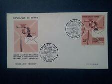 L738. Enveloppe 1er Jour 1964. Congo Brazzaville, Congrès Panafricain & Malgache