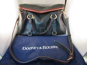 Dooney Bourke Green & Wine Leather Purse Shoulder Bag With Dust Bag