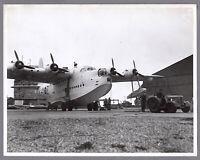 SHORT SUNDERLAND FLYING BOAT LARGE VINTAGE THE AEROPLANE PRESS PHOTO RAF 4XZ