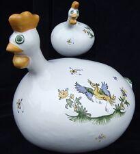 Poule décorative céramique en faïence de Moustiers céramique déco peint main