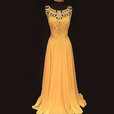 Women's Lace Embroidery Hollow Out Evening Party Ball Gown Maxi Long Dress -M