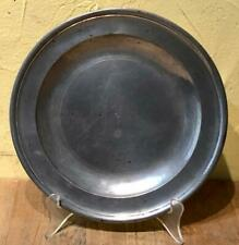 18th C. Antique English Pewter Plate, Fasson & Son, Successor to Samuel Ellis