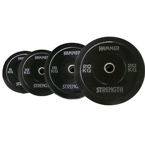 Hammer Strength 5-20KG Weight Plate Olympic Rubber Dumbbell Home Gym Set Barbell