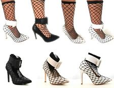 Women's New Pointy Toe High Heels Ankle Strap Attached Sock Pumps Shoe Sz 6-11