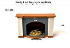 Neu für Diorama Nr.1530 Kamin2 mit Feuerstelle 1:35 Resin