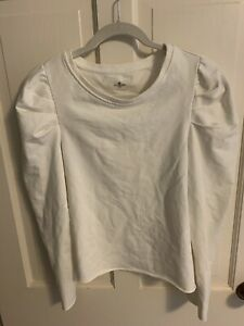 Sundays NYC Cream Puff Sleeve Sweatshirt Size Medium