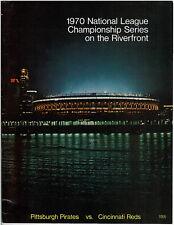1970 NLCS GAME 3 BASEBALL PROGRAM PITTSBURGH PIRATES vs CINCINNATI REDS BENCH