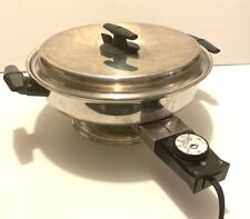 "VOLLRATH #24  11"" ELECTRIC SKILLET FRY PAN WITH VENTED LID"