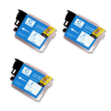 3 CYAN Replacement Ink for Brother LC61 AIO MFC 290C 295CN 490CW 495CW J410w