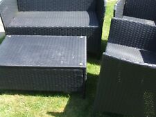 Ratten garden furniture 4piece set with lovely red cushions see descr quick sale