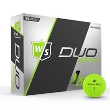 Wilson Staff Duo Soft Optix Matte Lectric Lime Low 29 Compression Golf Balls NEW