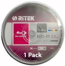 1x Ritek Blu-ray Disc - 50GB 4X BD-R DL Recordable - Printable