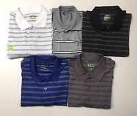 Men's Golf IZOD Performance Striped Long Sleeves Polo Collar Shirt NWT.