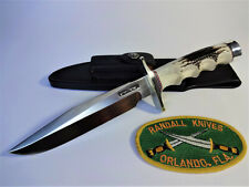 """RANDALL KNIFE Model 1- 6"""" SS ALL PURPOSE FIGHTER FG Stag Handle NS Double Hilt"""