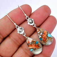 Spiny Oyster Turquoise - Arizona 925 Sterling Silver Earrings Jewelry 5846