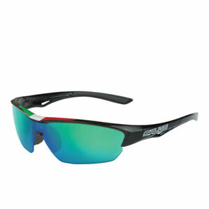 SALICE 011 Sport Sunglasses Black / Green Italian with case & extra clear lens