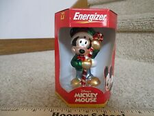 Disney Mickey Mouse Decorative Christmas Ornament Energizer Glass Mouth Blown